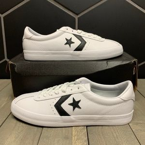 Mens Converse Breakpoint Leather Ox White Black